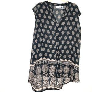 14th & Union Chiffon Printed Sleeveless Tunic